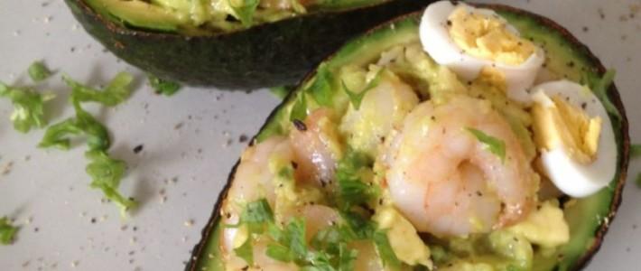 Gevulde avocado met garnalen
