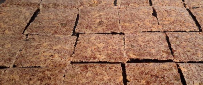 Lijnzaad crackers met pitten